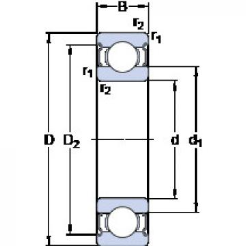 Rodamiento W 61814-2Z SKF