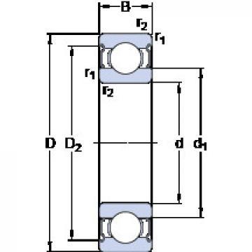 Rodamiento W 61816-2Z SKF