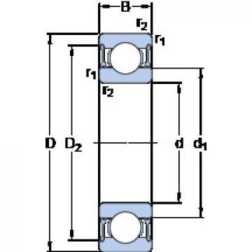 Rodamiento W 61806-2RZ SKF