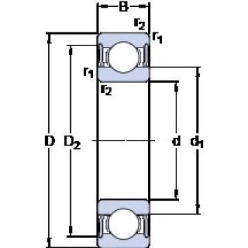 Rodamiento W 61816-2RS1 SKF