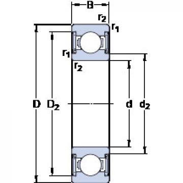 Rodamiento W 6000-2RS1 SKF