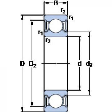 Rodamiento W 6209-2RZ SKF
