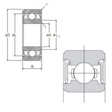 Rodamiento R-1660DD NMB
