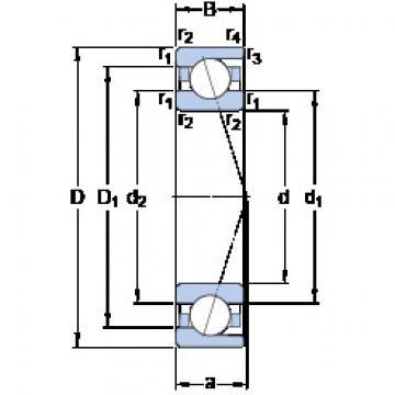 Rodamiento 71821 ACD/HCP4 SKF