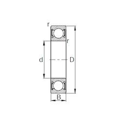 Rodamiento 6016-2RS CYSD