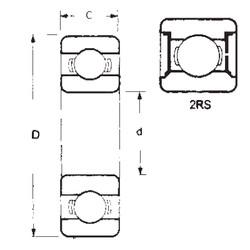 Rodamiento 16006-2RS FBJ