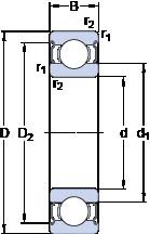 Rodamiento 6016-2Z SKF