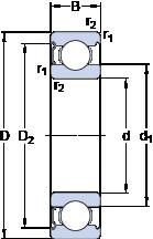 Rodamiento 6017-Z SKF