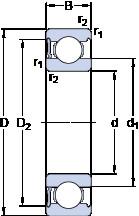 Rodamiento 6019-RS1 SKF