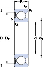 Rodamiento 6015-RZ SKF