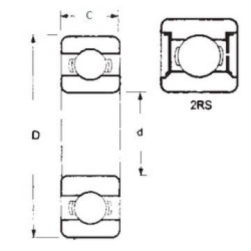 Rodamiento 6018-2RS FBJ