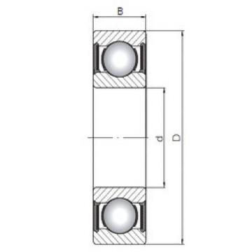 Rodamiento 6016-2RS CX