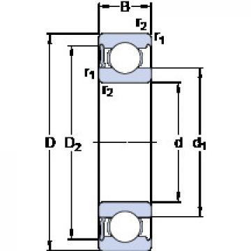 Rodamiento 6017-RS1 SKF